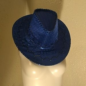 Blue hat with sequence